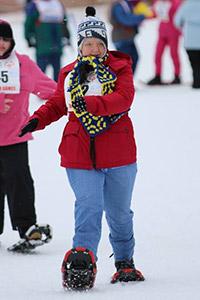 Snowshoer Leigh Ann Phelps