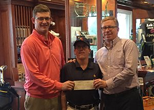 Zach Graves presents check to Special Olympics Kentucky