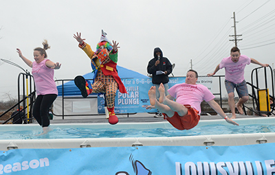 2019 Louisville Polar Plunge - Clown Shark