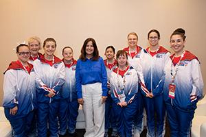 SO USA Gymnasts with Karen Pence